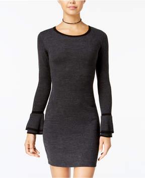 BCX Juniors' Bell-Sleeve Bow-Back Sweater Dress
