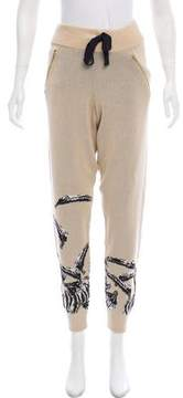 Baja East High-Rise Patterned Pants