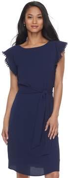 Elle Women's Pom-Pom Trim Sheath Dress
