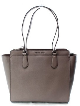 Michael Kors Brown Cinder Saffiano Dee-Dee Large Tote Bag Purse - BROWNS - STYLE