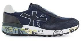 Premiata Men's Blue Fabric Sneakers.