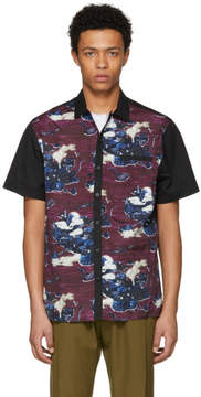 Lanvin Black and Purple Bowling Shirt