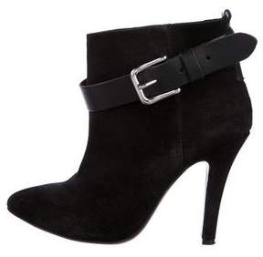 IRO Suede Pointed-Toe Ankle Boots