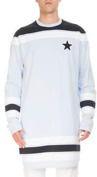 Givenchy Contrast-Detail Long-Sleeve Baseball T-Shirt