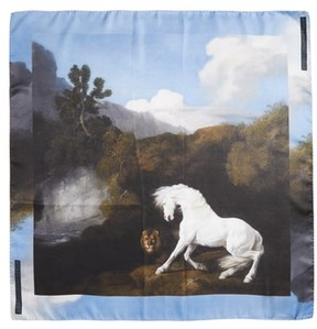 Stella McCartney Women's Stubbs Horse Silk Scarf