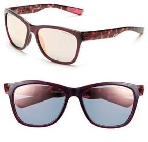 Women's Nike 'Vital' 58Mm Sunglasses - Burgundy/ Hyper Pink Tortoise