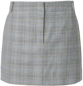 Tibi Cooper Check Mini Skirt