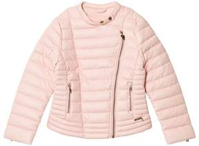 GUESS Pink Padded Pleather Biker Jacket