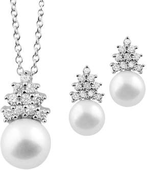 Bella Pearl Matching Earrings and Pendant Set