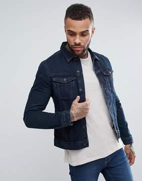 New Look Denim Jacket In Dark Blue Wash