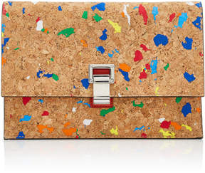 Proenza Schouler Rainbow Leather-Insert Cork Clutch