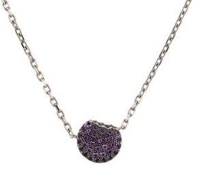 Boucheron 18K Amethyst Macaron Pendant Necklace