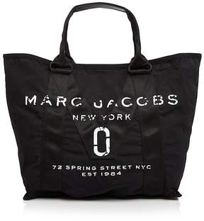 Marc Jacobs Logo Canvas Tote - BLACK/BLACK - STYLE