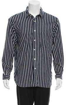 TOMORROWLAND Striped Button-Up Shirt