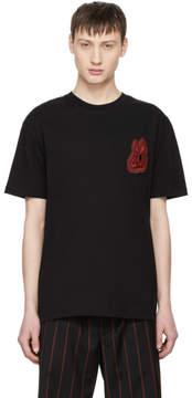 McQ Black Bunny Be Here Now T-Shirt