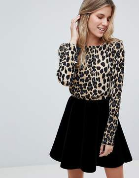 B.young Leopard Print Blouse