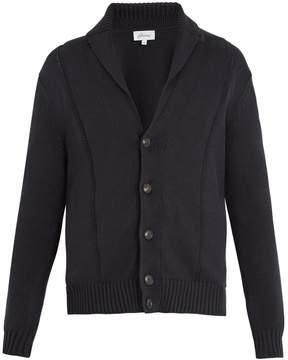 Brioni Shawl-collar cotton and silk-blend cardigan