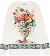 Dolce & Gabbana - Printed Cotton-jersey Sweatshirt - White