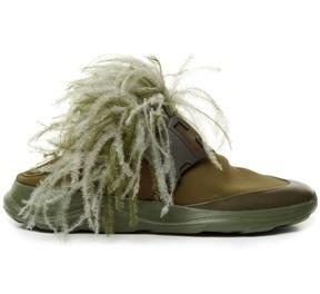 Christopher Kane Feather-embellished slip-on neoprene trainers