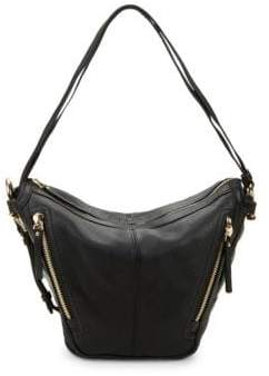 Vince Camuto Pebbled Leather Zipper Hobo Bag
