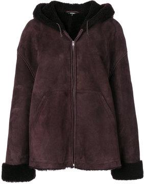 Yeezy short shearling coat