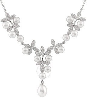 Bella Pearl Fancy Sterling Silver Pearl Necklace