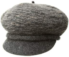 Scala Boiled Wool Two-Tone Newsboy Caps