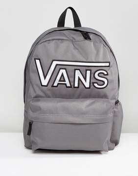 Vans Realm Flying V Camo Backpack In Gray