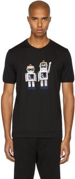 Dolce & Gabbana Black Robot Designers T-Shirt