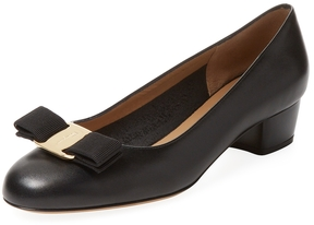 Salvatore Ferragamo Women's Vara Leather Block Heel