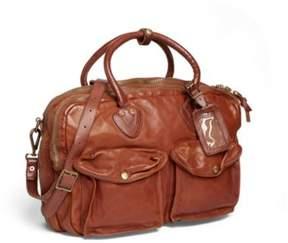 Ralph Lauren Leather Cargo Briefcase Tan One Size