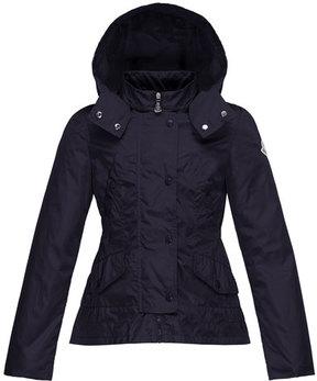 Moncler Ayrolette Hooded Raincoat, Dark Blue, Size 2-3