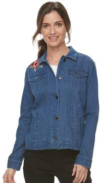 Croft & Barrow Women's Embroidered Denim Jacket