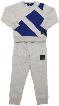adidas Logo Cotton Sweatshirt & Sweatpants