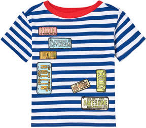 Andy & Evan Blue Striped License Plate T-shirt