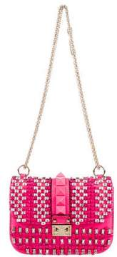 Valentino Small Rockstud Lock Flap Shoulder Bag