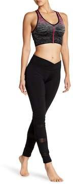 Electric Yoga Slimming Waist Mesh Trim Leggings