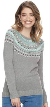 Croft & Barrow Women's Fairisle Crewneck Sweater