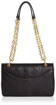 Tory Burch Alexa Leather Shoulder Bag - BLACK/GOLD - STYLE