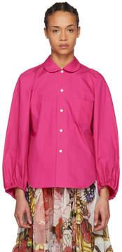 Comme des Garcons Pink Gathered Detailing Shirt