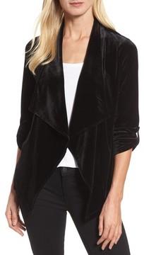 Chaus Women's Velvet Drape Front Jacket