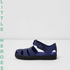 River Island Mini boys blue jelly sandals