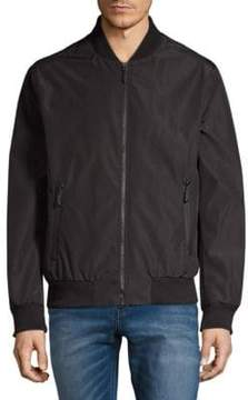 Andrew Marc Rib-Trimmed Bomber Jacket