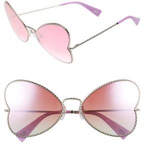 Marc Jacobs Women's 60Mm Heart Sunglasses - Gold