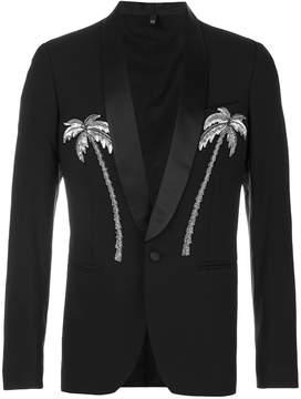 Christian Pellizzari palm tree embroidered blazer