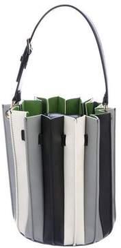Sara Battaglia Plisse Striped Bucket Bag w/ Tags