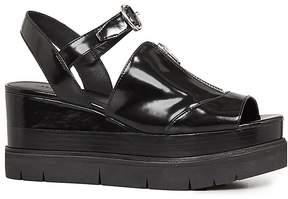 AllSaints Gino Platform Wedge Sandals