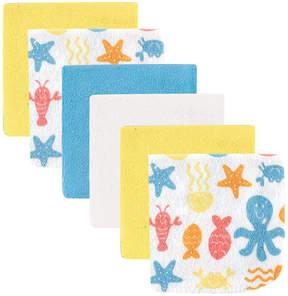 Luvable Friends Yellow & Blue Marine Six-Piece Washcloth Set