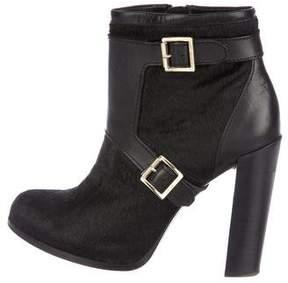 Rachel Zoe Ponyhair Round-Toe Ankle Boots