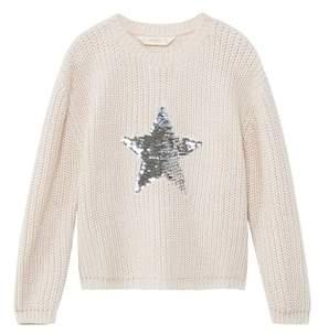MANGO Reversible sequins sweater